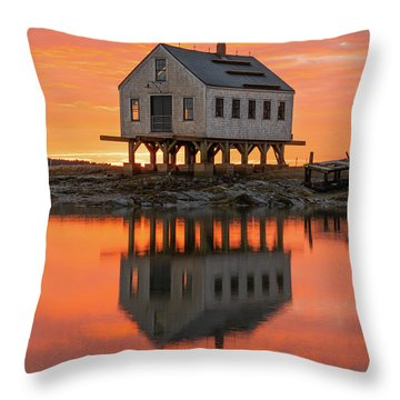 Scorched Symmetry Throw Pillow