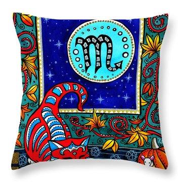Scorpio Cat Zodiac Throw Pillow