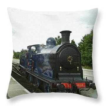Scotland. Aviemore. Strathspey Railway. Throw Pillow