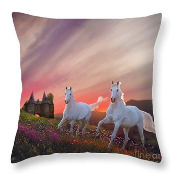 Scotland Fantasy Throw Pillow