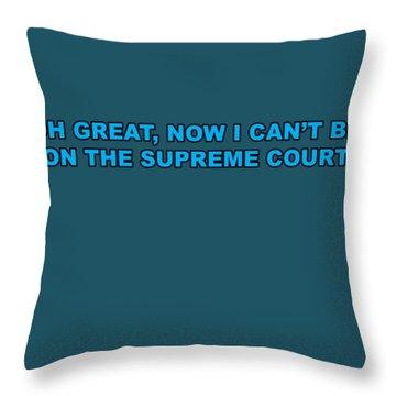 Scotus Throw Pillow