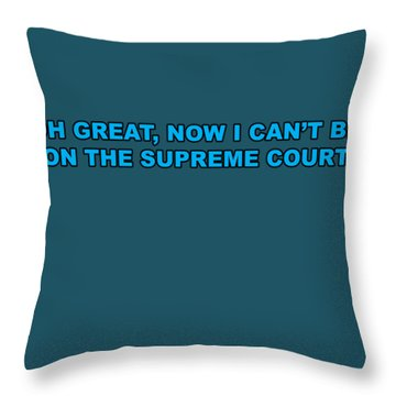 Scotus Throw Pillow