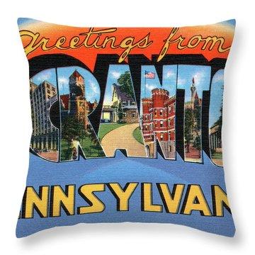 Scranton Greetings Throw Pillow