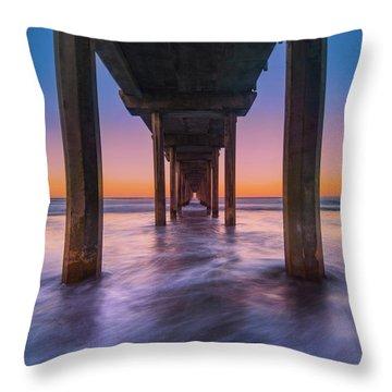 Scripps Pier - 2 Throw Pillow