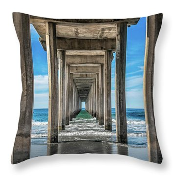 Scripps Pier La Jolla California Throw Pillow
