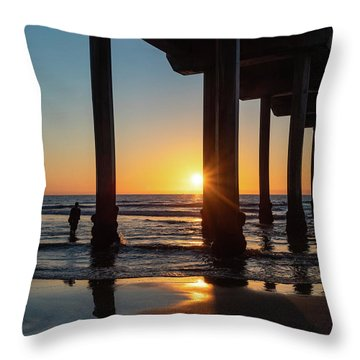 Scripps Pier Throw Pillow