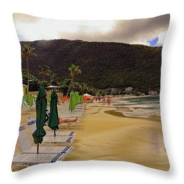 Throw Pillow featuring the photograph Sea And Sand by Tony Murtagh