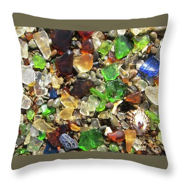 Throw Pillow featuring the photograph Sea Glass by Shane Kelly