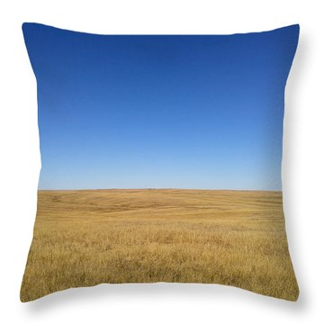 Throw Pillow featuring the photograph Sea Of Grass by Carl Young