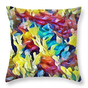 Sea Salad Throw Pillow