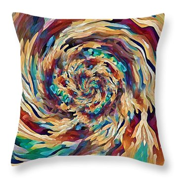 Sea Salad Swirl Throw Pillow