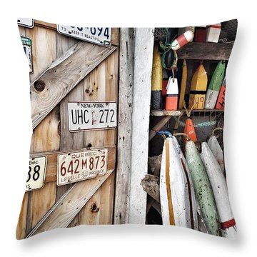 Sea Shack Plates And Buoys Throw Pillow
