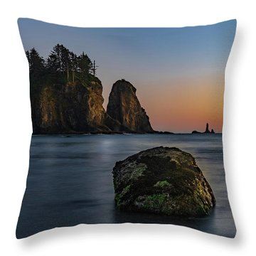 Throw Pillow featuring the photograph Sea Stacks At La Push by Ed Clark