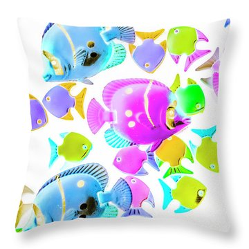 Sea Swimmers Throw Pillow