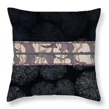 Sea Urchin Contrast Obi Print Throw Pillow