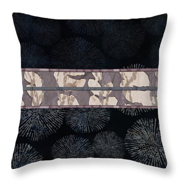 Sea Urchin Contrast Obi Print Throw Pillow