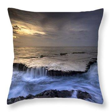 Sea Waterfalls Throw Pillow