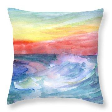 Sea Wave Throw Pillow