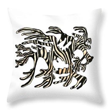Sea Zebra Dragon 1 Throw Pillow