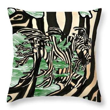 Sea Zebra Dragon 2 Throw Pillow