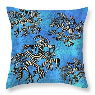 Sea Zebra Dragon 4 Throw Pillow