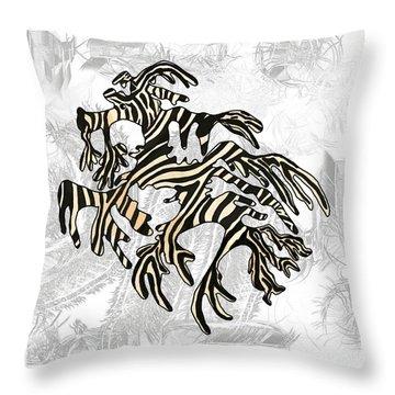 Sea Zebra Dragon 5 Throw Pillow