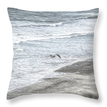 Seagull Sketch Throw Pillow