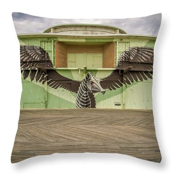 Throw Pillow featuring the photograph Seahorse by Steve Stanger