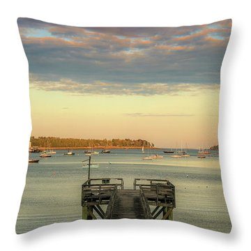 Throw Pillow featuring the photograph Seal Harbor At Low Tide by Dan Sproul