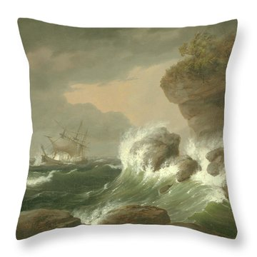 Seascape, 1835 Throw Pillow