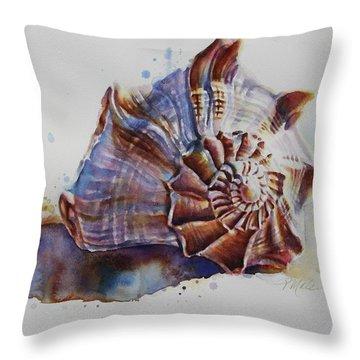 Seashell Swirl Throw Pillow