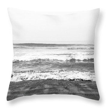 Seaside Dream Black And White - Beach Art By Linda Woods Throw Pillow
