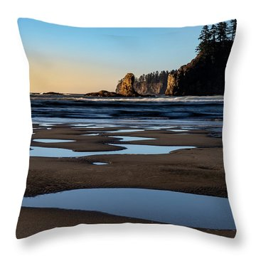 Throw Pillow featuring the photograph Second Beach by Ed Clark