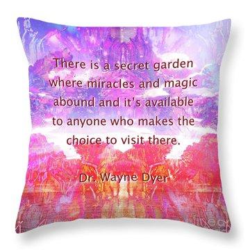 Throw Pillow featuring the digital art Secret Garden by Atousa Raissyan