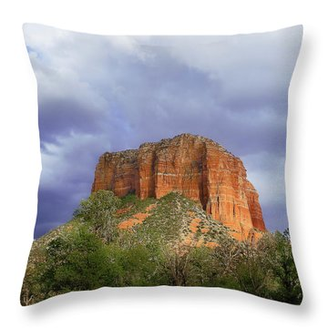 Devil's Mountain Throw Pillow