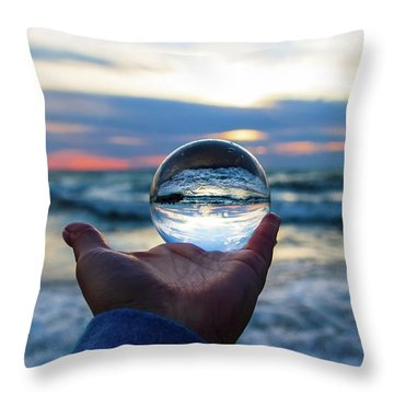See Into The Future Throw Pillow