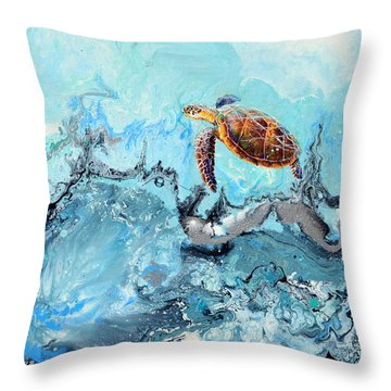 See Turtle Throw Pillow