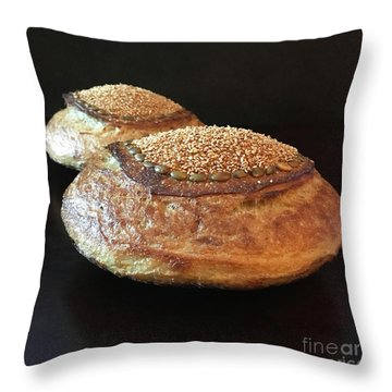 Seeded White And Rye Sourdough 2 Throw Pillow