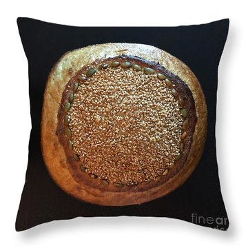 Seeded White And Rye Sourdough Throw Pillow