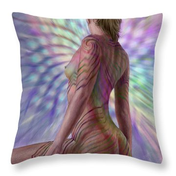 Seeing Phyllotaxis 2 Throw Pillow