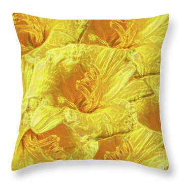 Selective Yellow Lilies Throw Pillow