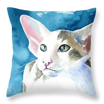Cattery Throw Pillows