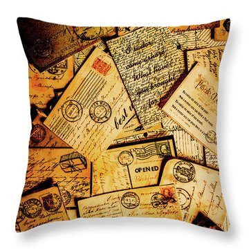 Sentimental Writings Throw Pillow