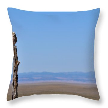 Throw Pillow featuring the photograph Sentinel by Carl Young