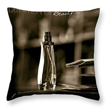 Sepia Definition Of Beauty Throw Pillow