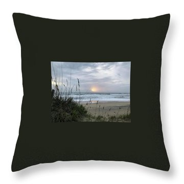 Throw Pillow featuring the photograph Sept. 14, 2018 Sunrise  by Barbara Ann Bell