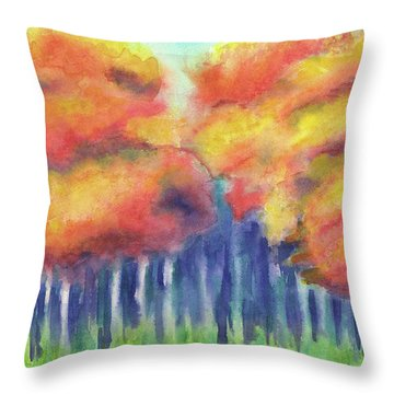 Throw Pillow featuring the painting September 2018 by Betsy Hackett