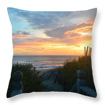 Throw Pillow featuring the photograph September 28, 2018 Sunrise Nh  by Barbara Ann Bell