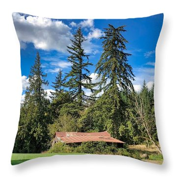 Throw Pillow featuring the photograph September Skies by Brian Eberly