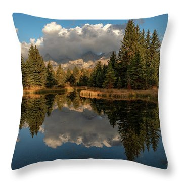 Serene At Schwabachers Landing Throw Pillow